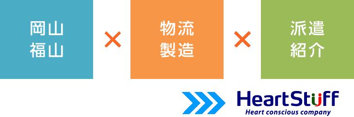 岡山×物流製造×派遣紹介はハートスタッフ